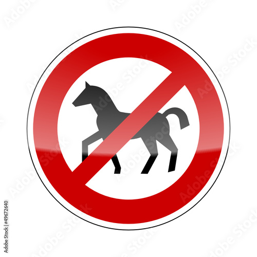 verkehrszeichen v2 pferde verboten I