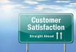 """Highway Signpost """"Customer Satisfaction"""""""