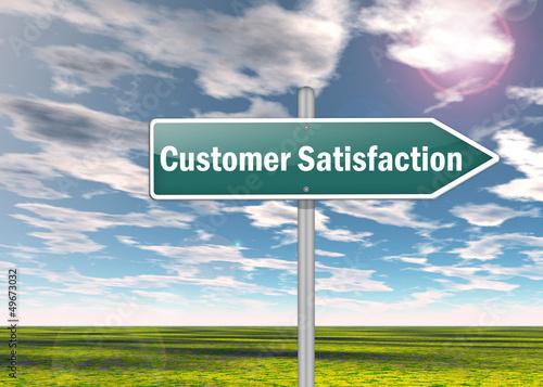 "Signpost ""Customer Satisfaction"""