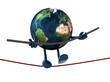 earth acrobat who walks on a wire