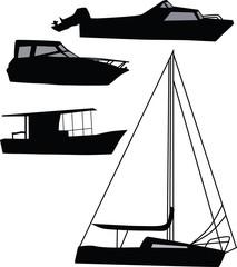 ship silhouette vector