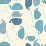 whale seamless pattern