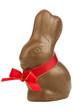 Schokoladen Osterhase mit roter Schleife
