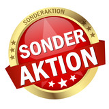 "Button mit Banner "" SONDERAKTION """