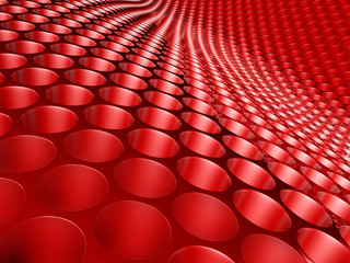 Abstract Honeycomb Red