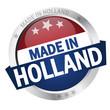 "Button mit Banner "" MADE IN HOLLAND """