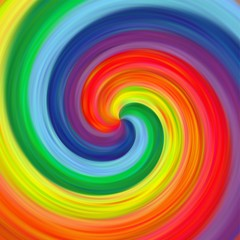 Abstract art twirl rainbow colorful background