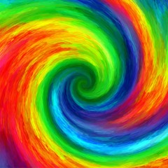 Abstract art twirl rainbow colorful painted background