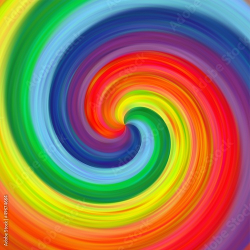 Abstract art twirl rainbow colorful background © lifemaker