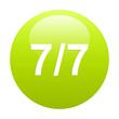 bouton internet 77 green