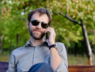 Caucasian man calling