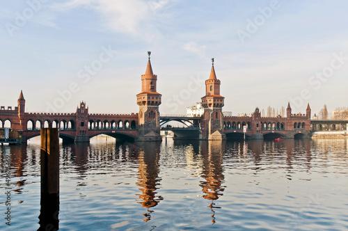 Oberbaumbrücke most w Berlinie, Niemcy