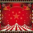 Square red vintage circus