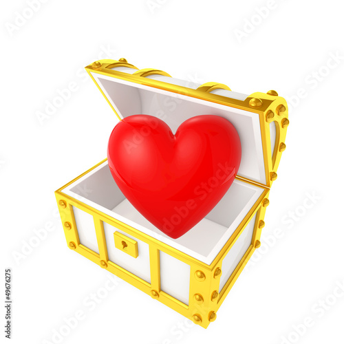 Treasure chest containing the heart