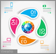 Infographic template design - Original geometric