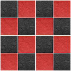 black and red checkered paper collage