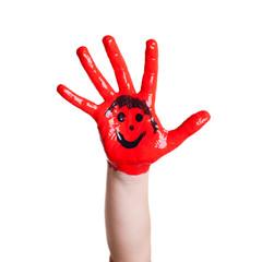 rote Kinderhand