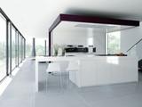 Fototapety weiße designer küche