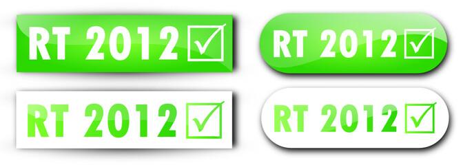 4 étiquettes RT2012