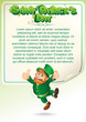 Saint Patrick Day Party Background with Leprechaun
