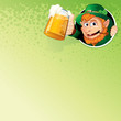 Cartoon Leprechaun with Mug of Ale. Image