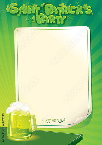 Saint Patrick's Day Party Poster Template.