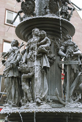 Fountain of the Virtues in Nuremberg