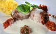 Kalbsfilet mit Ratatouille und getrüffelten Nudeln