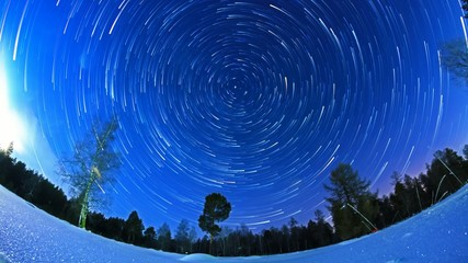 Star trails over the suburbs, timelaps