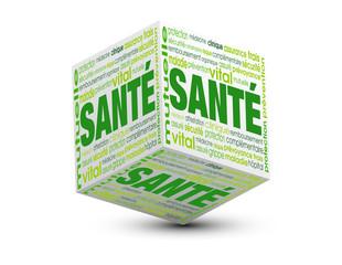 cube  nuage de mots santé