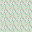 Pattern pink tulips on a blue background