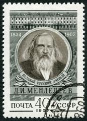 USSR - 1957: shows Dmitri I. Mendeleev (1834-1907), chemist