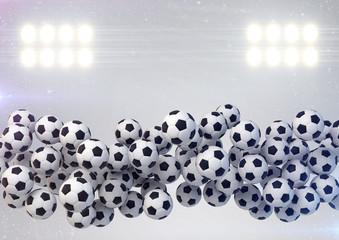 Soccer balls background