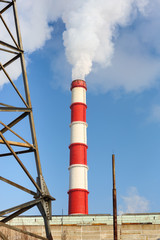 chimney power plant against