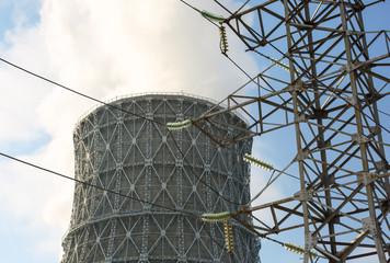 chimney power plant against