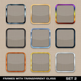 Set Of Colorful App Icon Frames, Templates, Buttons. Set 2. Vect