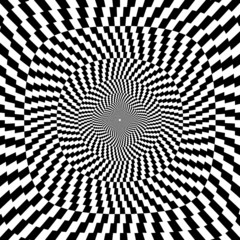 Vector illustration of optical illusion  background