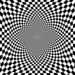 Vector illustration of optical illusion s background