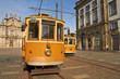 canvas print picture - electric tram in Portugal, Porto