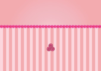 vector pink background with hearts and roses