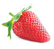Strawberry. One Berry Isolated on a White Background