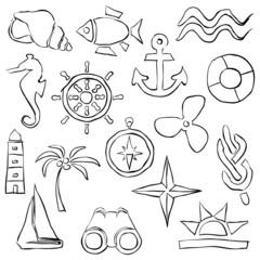 sketch marine images