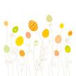 Eggflowers Pattern Green/Yellow/Orange