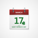 patricks day calendar illustration