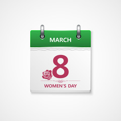 womens day calendar illustration