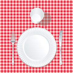 paper plate tablecloth