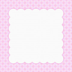 Pink checkered celebration frame for your message or invitationd
