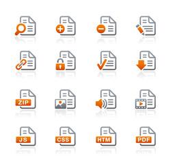 Documents Icons - 1 // Graphite Series