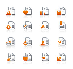 Documents Icons - 2 // Graphite Series