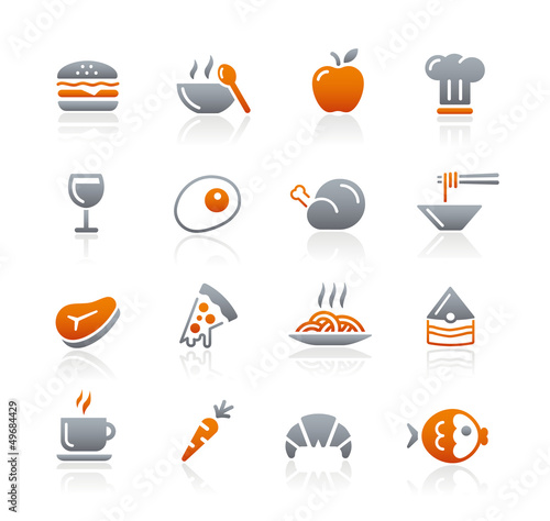 Food Icons - 1 // Graphite Series